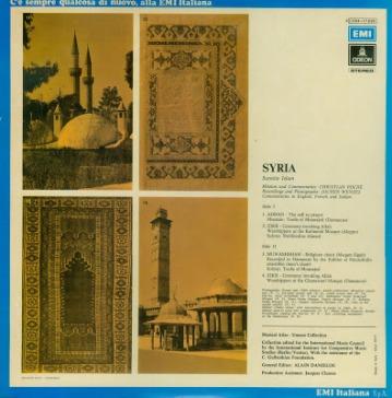 Syria - Musical Atlas - Unesco Collection - EMI - back